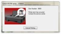 Код ошибки 5B00 - Сброс и очистка памперсов CANON PIXMA