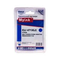 Картридж для CANON CLI-471 XLC син MyInk, PIXMA-TS5040, PIXMA-MG5740, PIXMA-TS6040, PIXMA-MG6840, PIXMA-MG7740, PIXMA-TS8040, PIXMA-TS9040