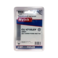 Картридж для CANON CLI-471 XLGY Grey XL Ink Cartridge серый MyInk, PIXMA-MG7740, PIXMA-TS8040, PIXMA-TS9040