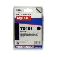 Картридж (T0481) черный (16ml, Dye) MyInk для EPSON  Stylus Photo, R200, R220, R300, R320, R340, RX500, RX600, RX620, RX640